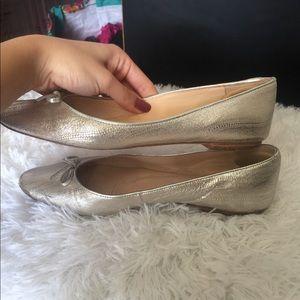 LK Bennett Shoes - L.K. Bennett Silver Snakeskin Flats